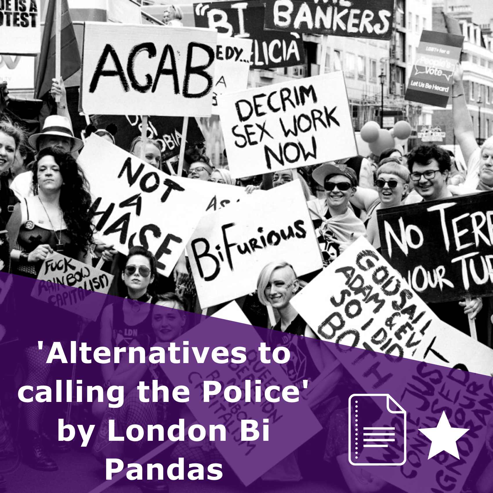 Alternatives to calling the police by London Bi Pandas, article rated 1 star