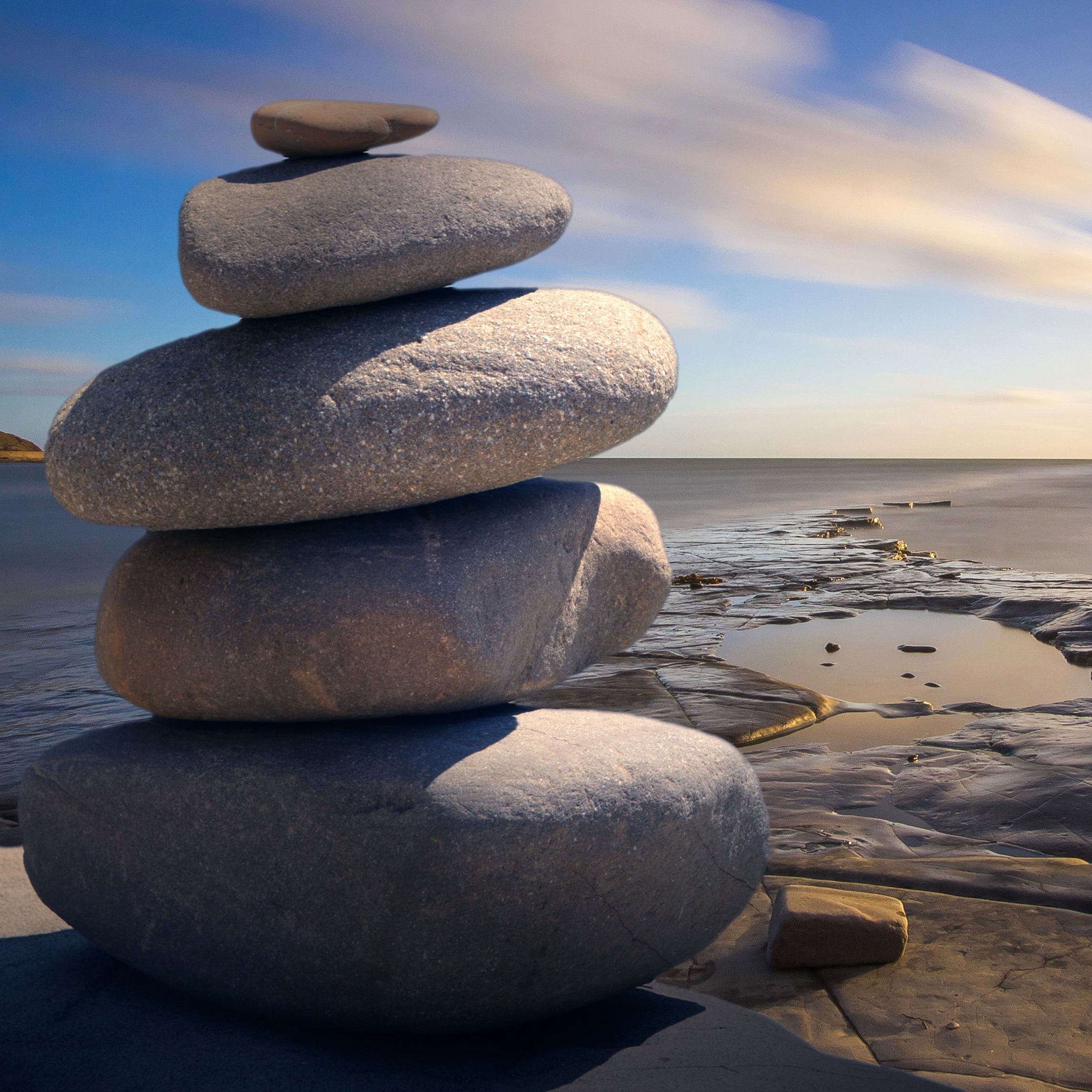 A picture of some stones stacked on top of one another