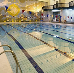 Photo of the swimming pool in The Richmond Building