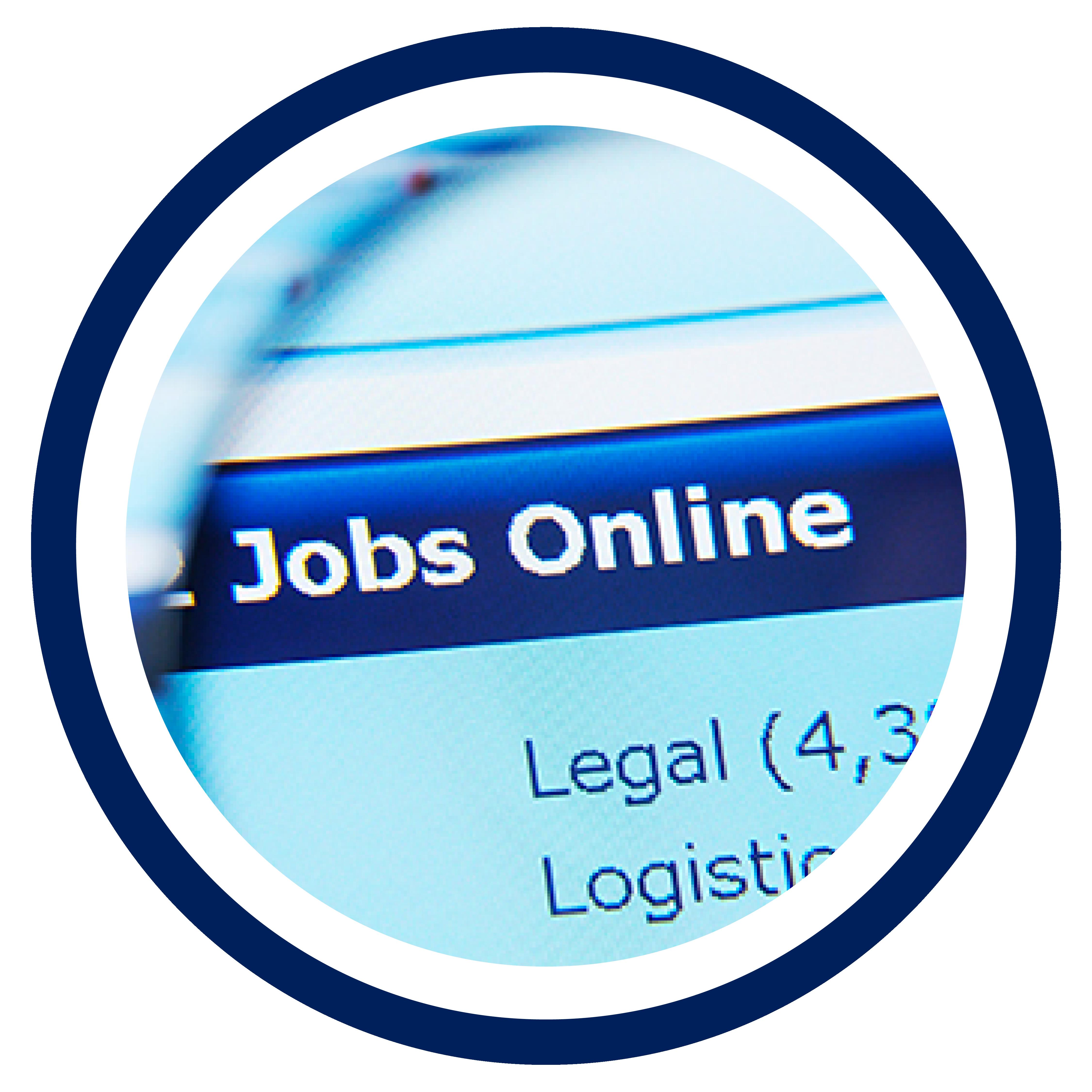 Image of job board on website