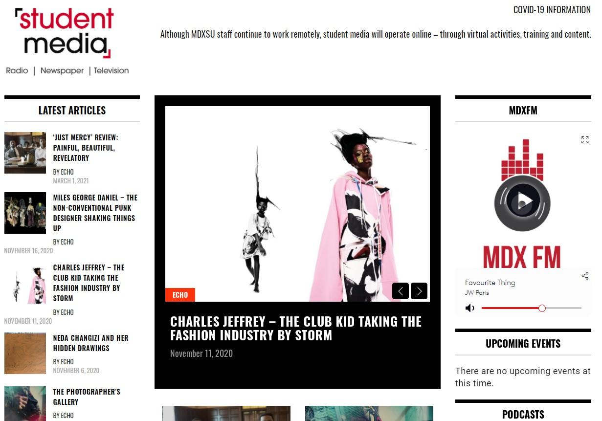 Student Media Website