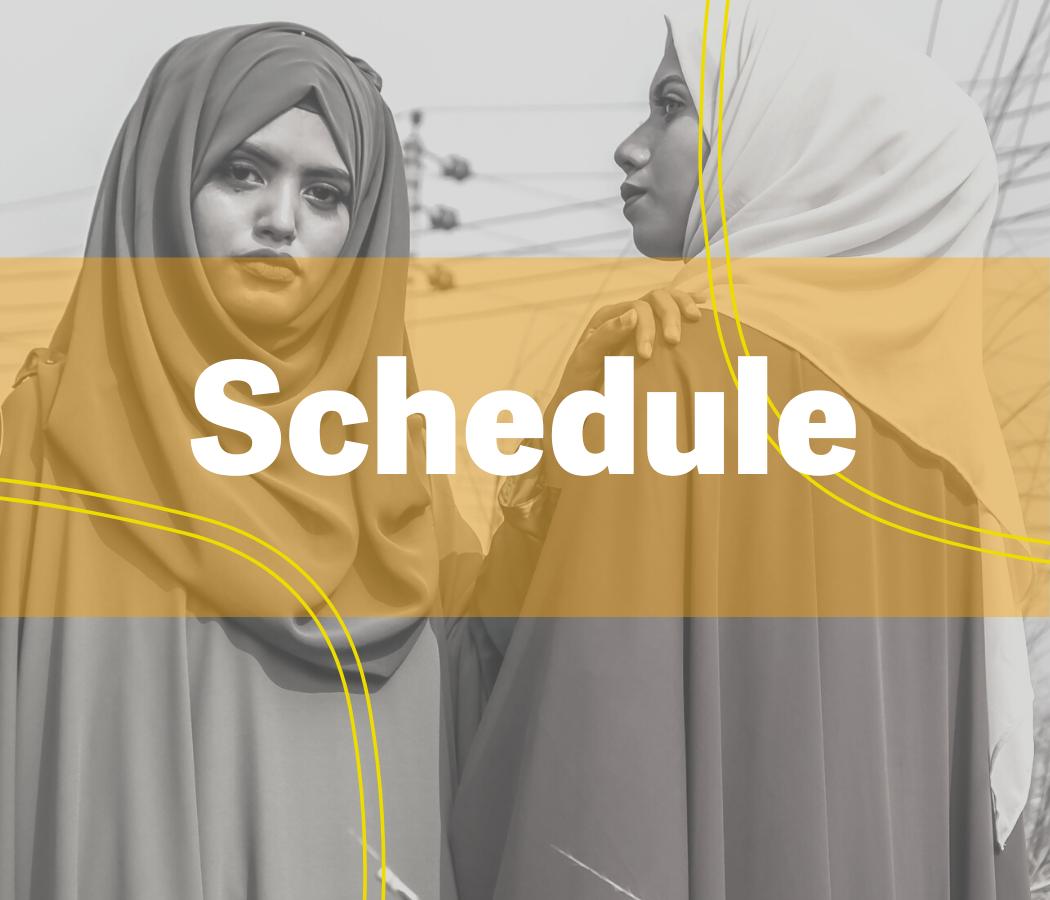 Schedule background picture: 2 hijabi women