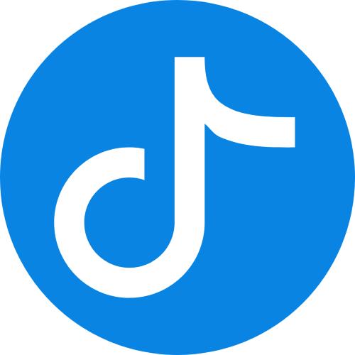 Small blue TikTok logo