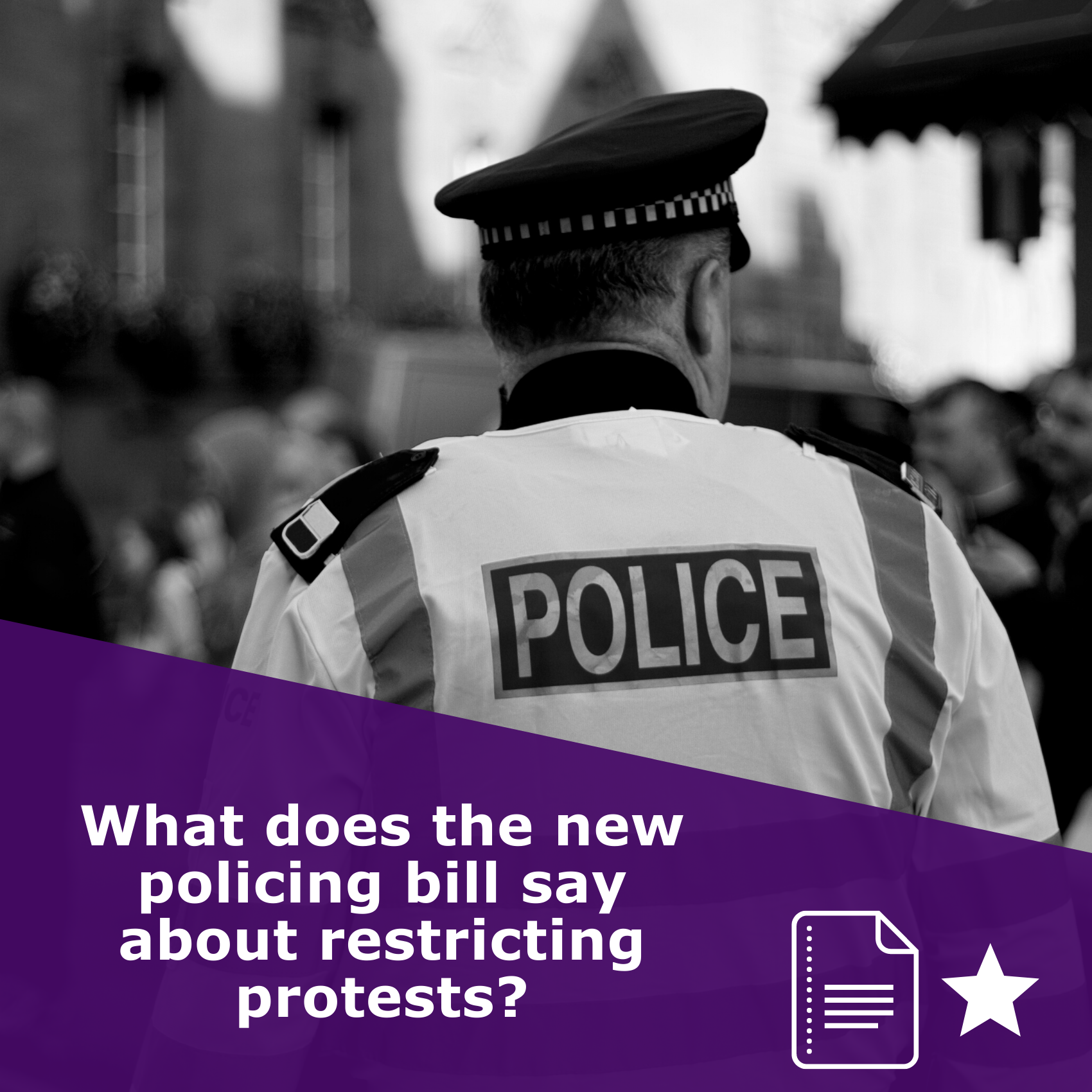 What does the new policing bill say about restricting protests? by Netpol, article rated 1 star