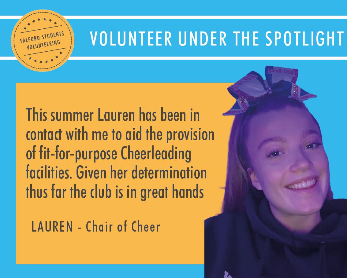 Volunteer under the Spotlight