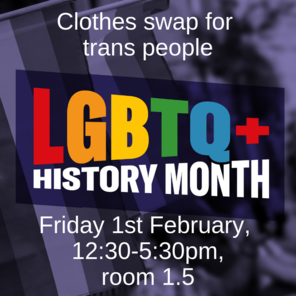 Clothes swap for trans people friday 1st february  12 30 5 30pm  room 1.5