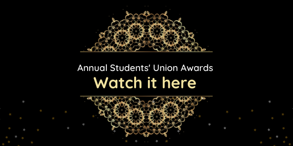 Annual students union awards 2021 web banner