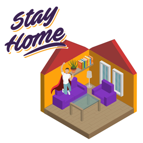 Stay home web square