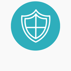 Icons website blue circle bckgr safeguarding