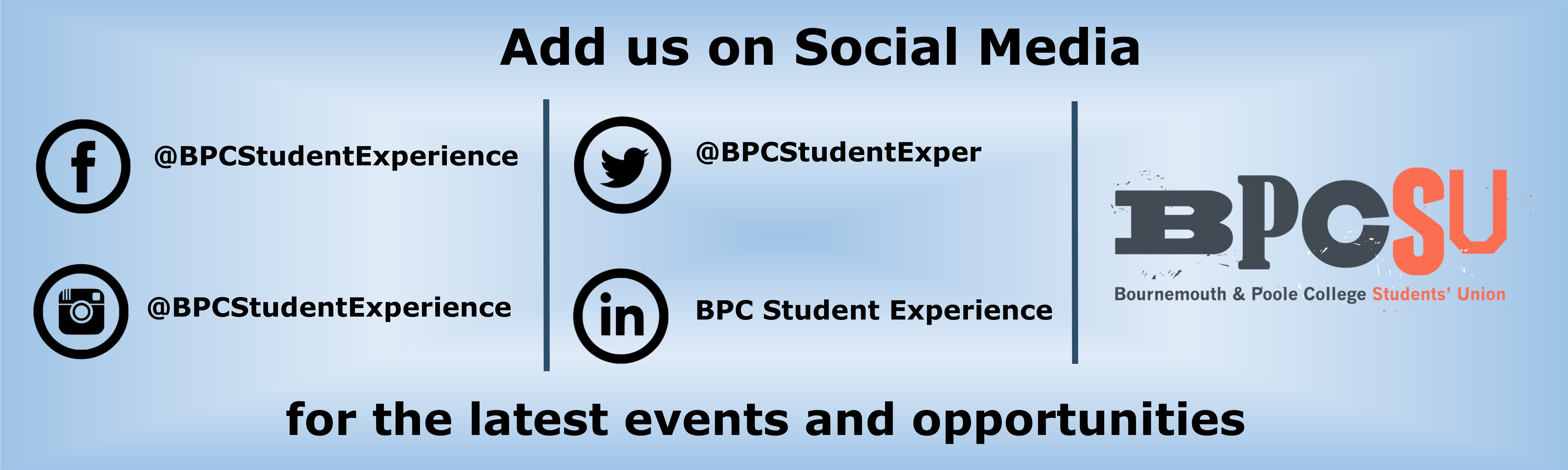 Student experience social media web banner