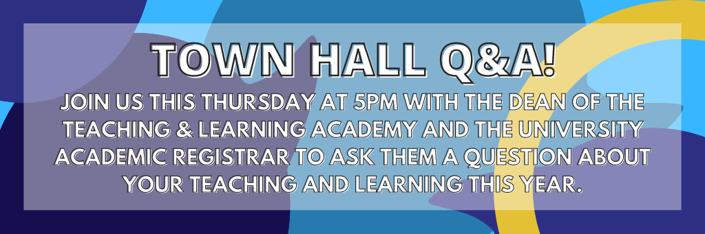Copy of join us next thursday for your chance to ask the vice chancellor a question about any concerns you have.