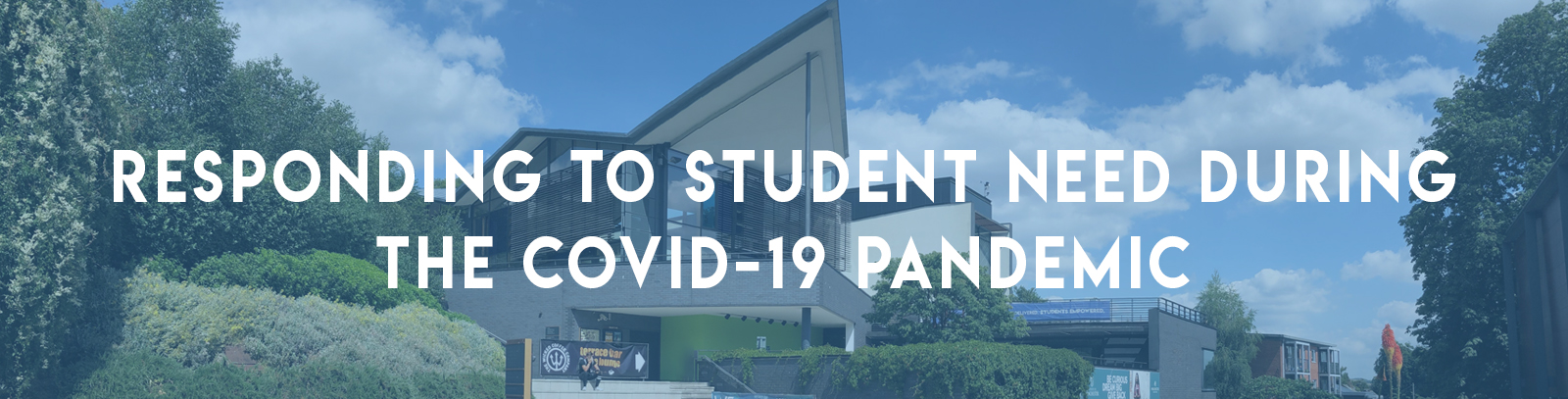 Student need banner