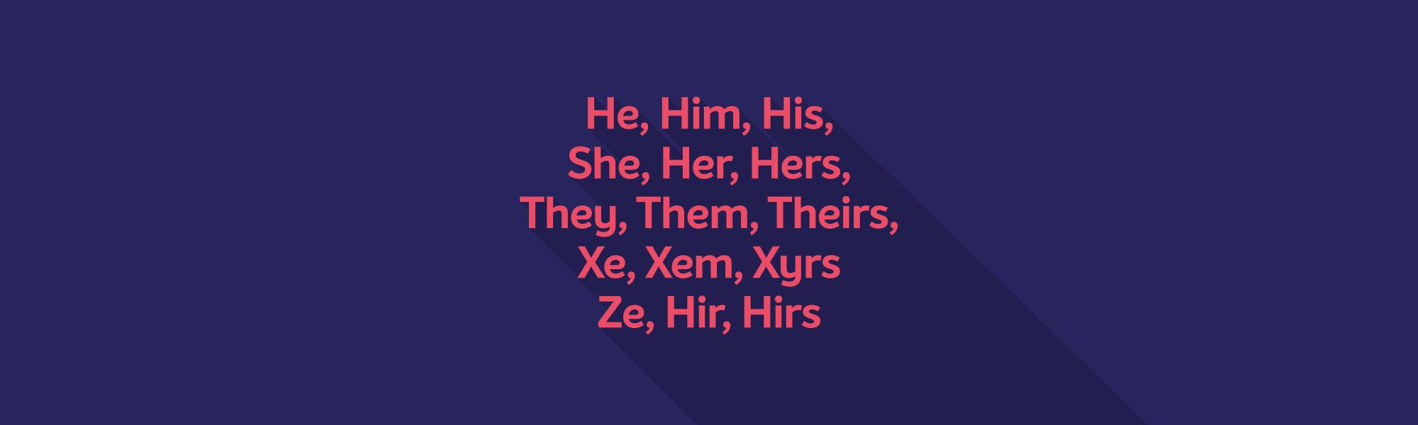 Full width banner pronouns