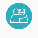 Icons website blue circle bckgr welfare advice