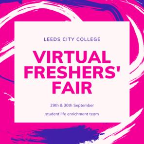 Virtual freshers fair social media