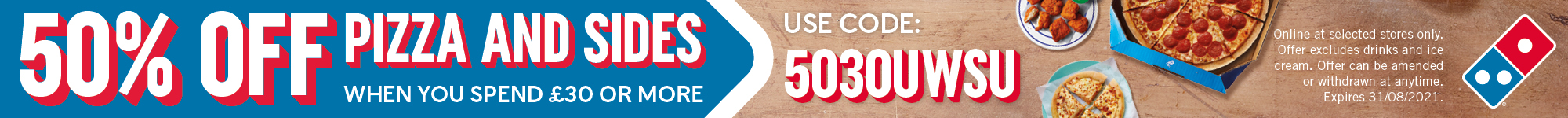 Pb30556 2000x150pxl 50 pizza student westminster uni web banner