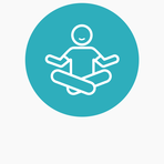 Icons website blue circle bckgr mental health wellbeing