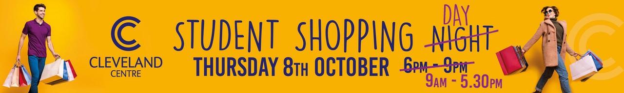 Student shopping night web banner large