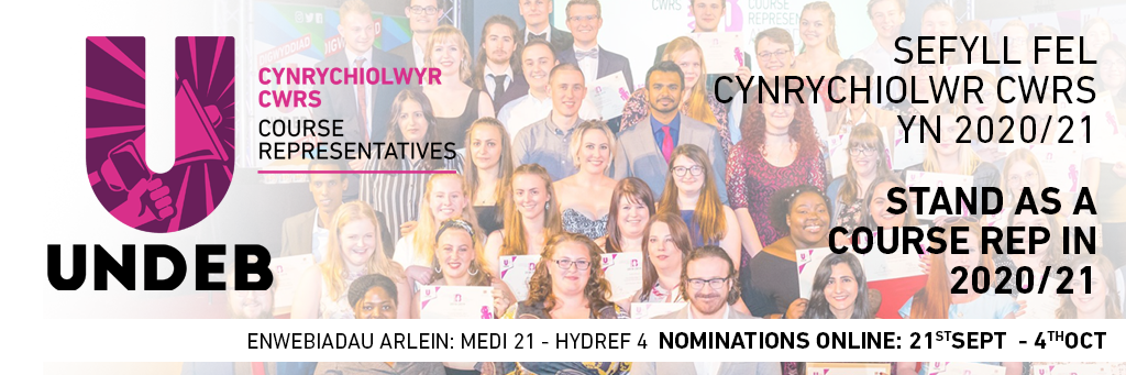 New web banner course rep election welsh