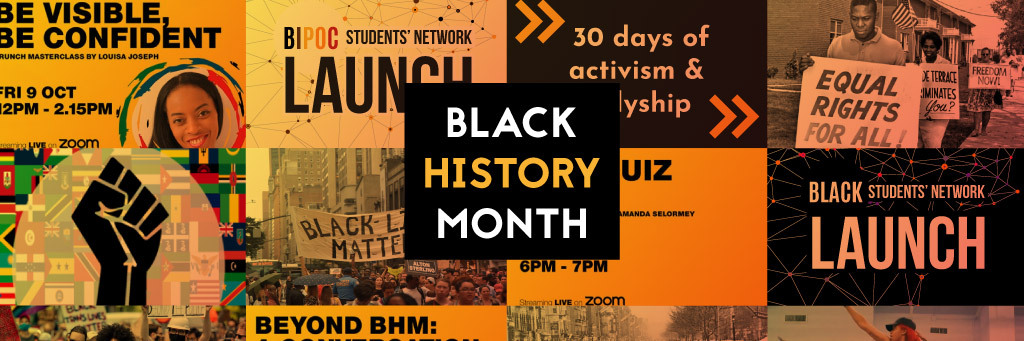 Black history month   events talks and art