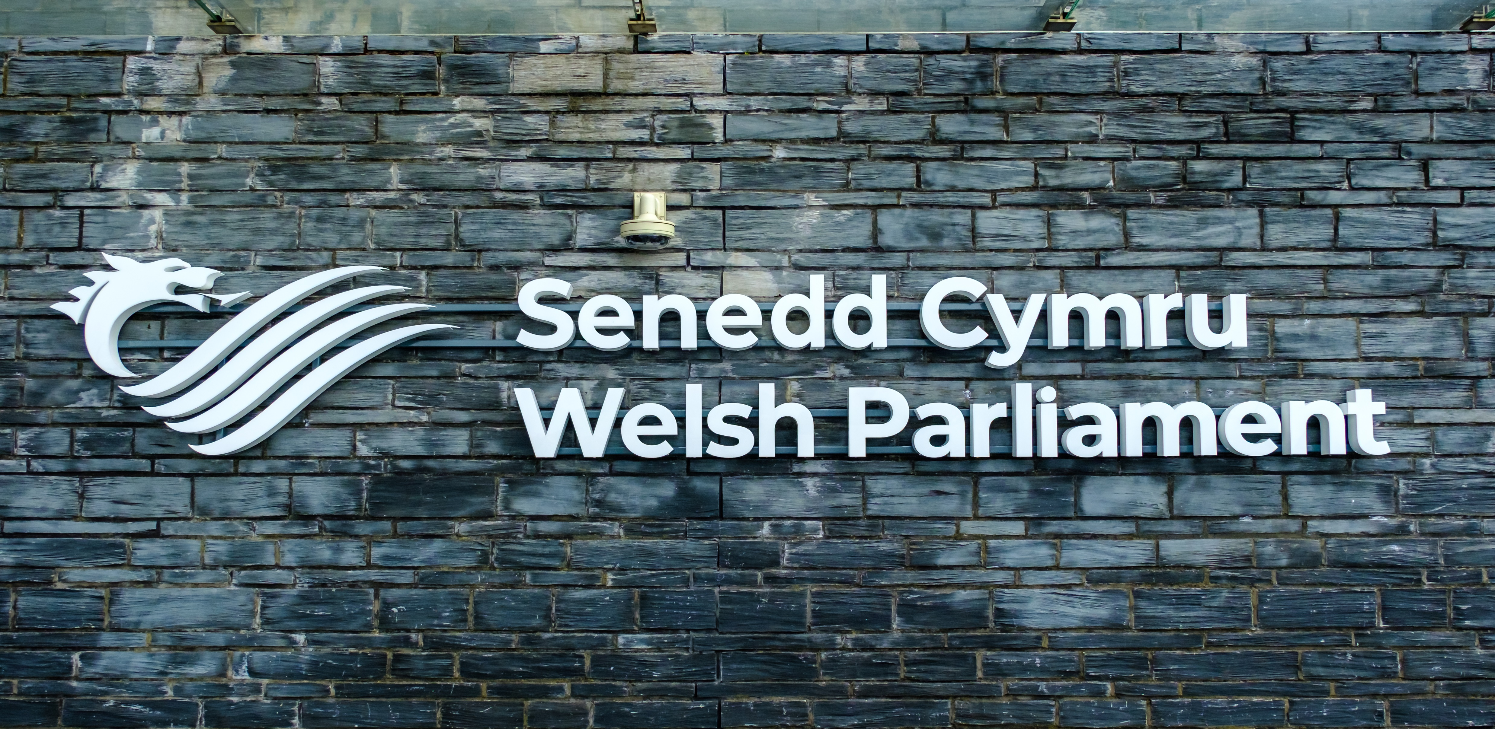 Welsh parliament sign on wall1