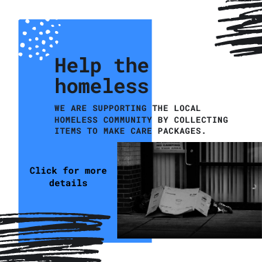 Copy of care packages for the homeless banner
