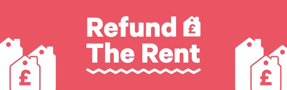 Refund the rent banner