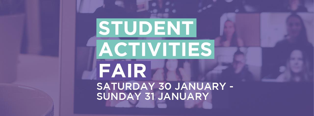 Student activities homepage banner