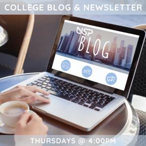 College blog newsletter 1