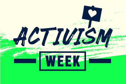 Activism week front page banner