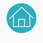 Icons website blue circle bckgr accomodation