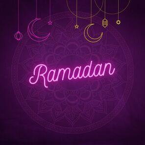 Dark glowing light ramadan kareem instagram post