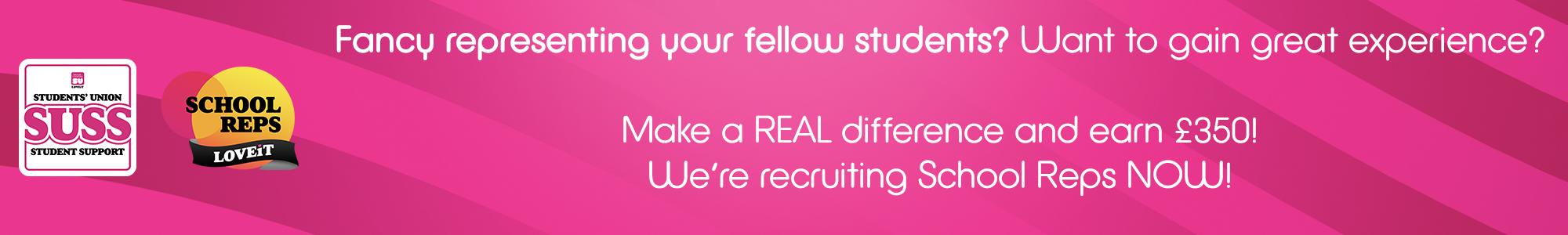 School reps recruitment web banner 2021