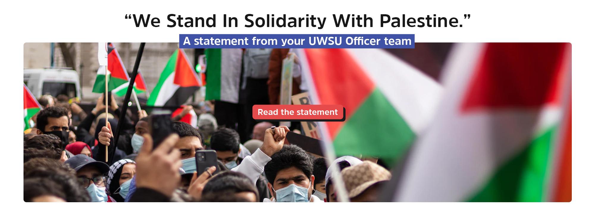 Palestine statment webbanner