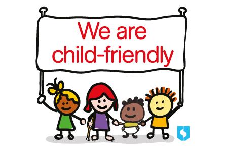 Child friendly sticker