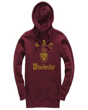 Kac hoodie burgandy gold