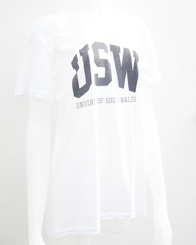 Collegiate logo t white