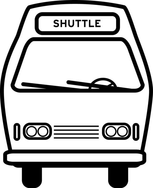 Shuttle bus icon vector 637949
